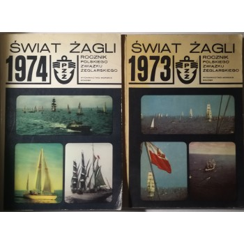 Świat żagli 1974,1973 2szt.