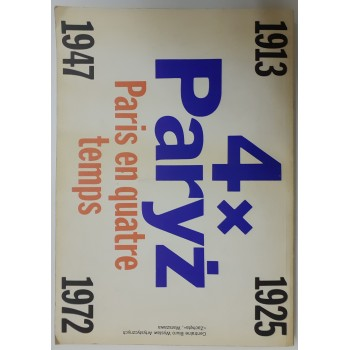 4x Paryż Paris en quatre temps